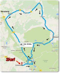 Route zur Ausfahrt